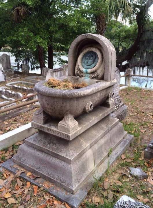 "The style of Rosalie's grave is known as a ""cradle grave"" because of the resemblance to a baby's bed. She is buried in Magnolia Cemetery in Charleston, S.C."