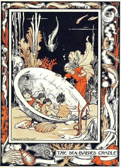 """The Sea-Babies Cradle"" by illustrator Margaret Tarrant, 1908."
