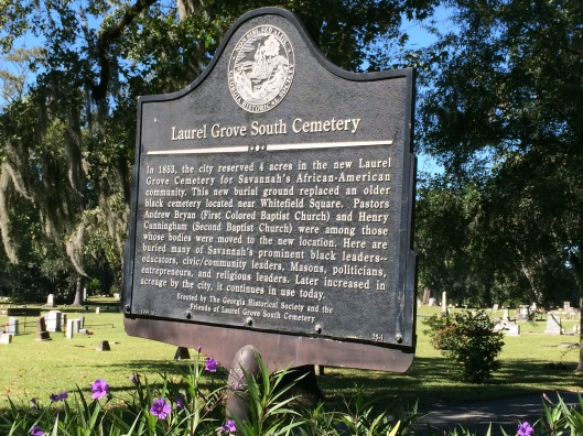 Laurel Grove South is well maintained and still a very active cemetery today.