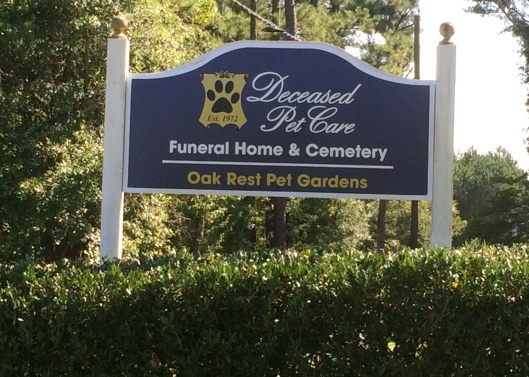 Located about 25 miles northeast of Atlanta, Oak Rest Pet Cemetery is a peaceful place for spending quiet time remembering beloved furry friends.