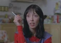 Shelley Duvall starts off as a meek, cheerful wife and mother in The Shining but soon finds herself thrown into a nightmarish situation at the Overlook Hotel.