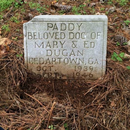 Cedartown is about 55 miles west of the cemetery, not far from the Alabama border.