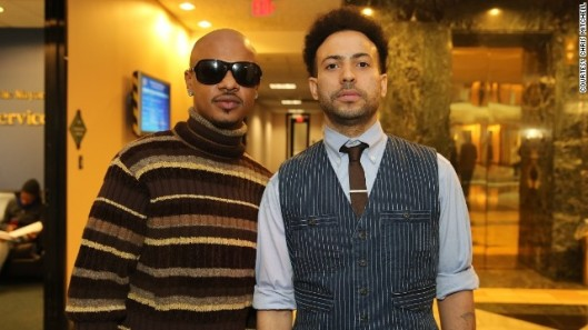Chris Kelly (left) reunited with his Kriss Kross partner Chris Smith at a Februar 2013 anniversary concert for Atlanta-based So So Def Records.