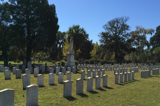 Known as Confederate Field, this section of cemetery contains the graves of about 700 Confederate veterans.