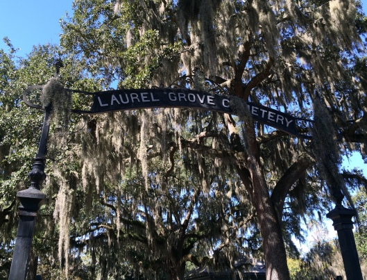 Laurel Grove North is twice the size of her sister cemetery, Laurel Grove South.