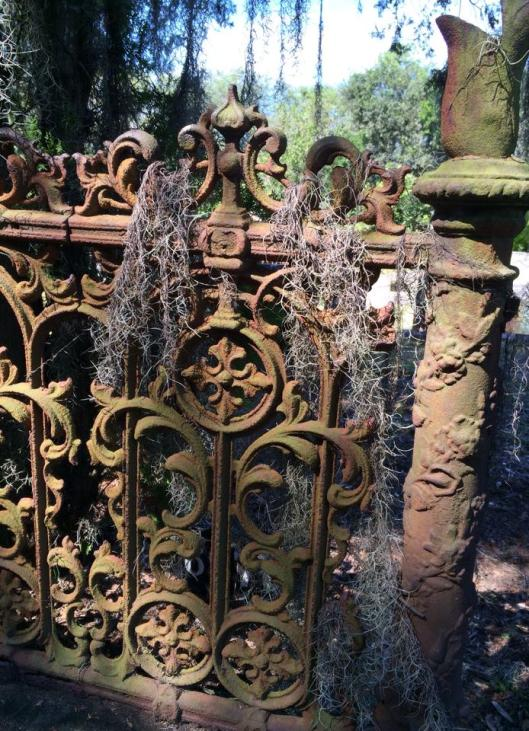 This is one of many slowly decaying metal gates at Laurel Grove North.