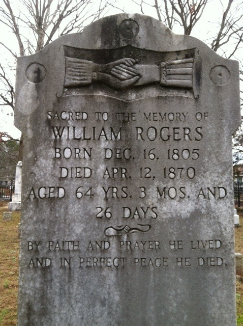 This picture of William Rogers' grave at Rogers-Bell Cemetery near Johns Creek, Ga., is one of the first I took for Find a Grave.