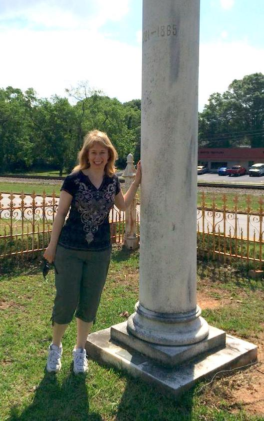 Christi and I visited Fairburn City Cemetery the first time in May 2014. She's always ready to go hopping with me!