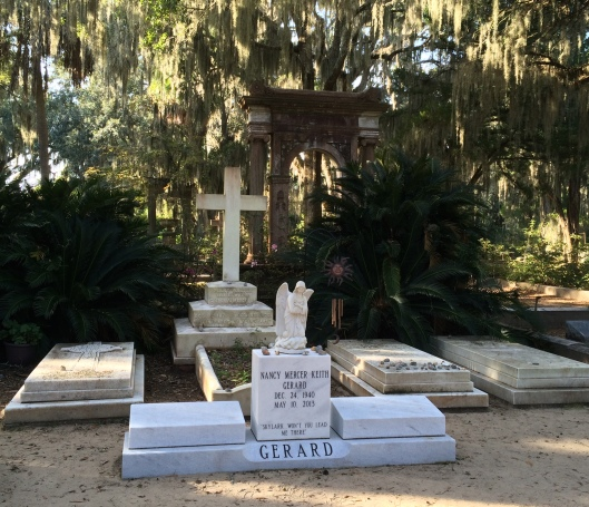 Many of the Mercer family graves have lyrics from Johnny's famous songs on them.