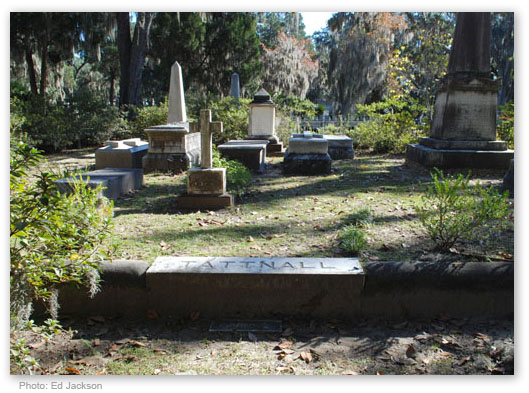 This is the Tattnall family plot at Bonaventure.