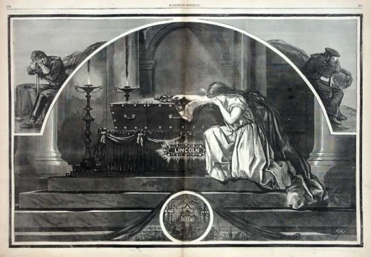 Shot by John Wilkes Booth at Ford's Theater on April 15, 1865, Abraham Lincoln's death shook the deeply divided country. This illustration appeared in Harper's Weekly magazine.