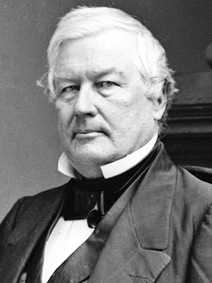 Despite his criticism of Lincoln's war policies, Millard Fillmore was on hand to pay tribute to him upon his arrival by train at Buffalo.