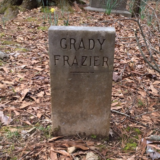 Grady Frazier was the son of Kansas Heard Frazier and William Frazier, and grandson of Judge John Heard. She was the daughter of Judge Heard and his first wife, Abie.