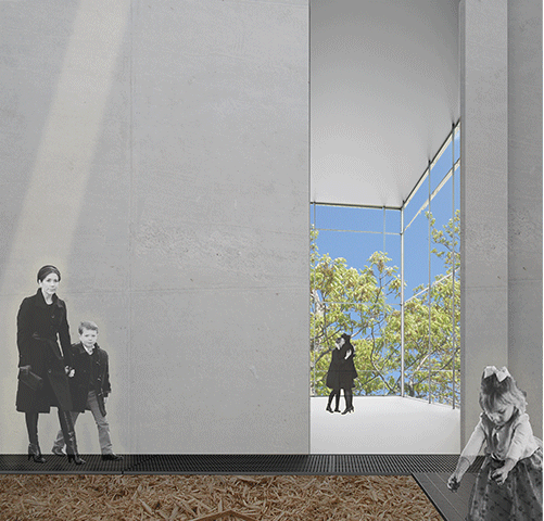 Spade's concept includes as much or as little human involvement in the preparation of the body as desired. The UDP web site says loved ones are encouraged to be part of the process of preparing the body for the procession and in the placement into the bay with the wood chips. Illustration courtesy of the UDP website.