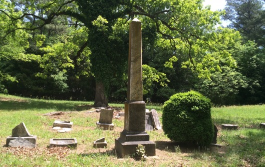 The older section of the cemetery has a number of damaged markers. Repairing them would take much time and expense.