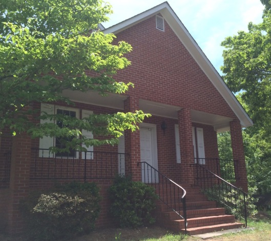 This is the fourth building that's housed Ebenezer Primitive Baptist Church. As per their religion, the building is simple with no cross or steeple to draw attention to it.