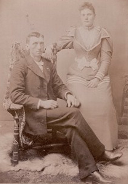 A portrait of J.R. and Maxie Duke, who were about 17 years apart in age. Maxie died at the age of 31, leaving her five children without a mother. J.R. died seven years later. Photo courtesy of the Duke family.