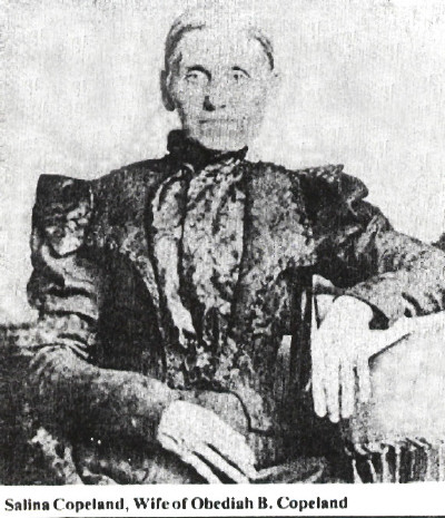 Salina Copeland survived the Civil War while her husband was away. When he returned, he found her hair had turned pure white from all the worrying she had done over him.