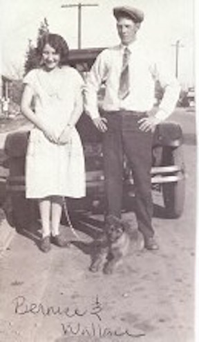 This is a picture of Van Wallace Duke with his brother's wife, Bernice, after he arrived in California from Georgia. Photo courtesy of the Duke family.