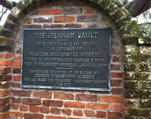 The exact location of Nathanael Greene's remains were a mystery until 1901.