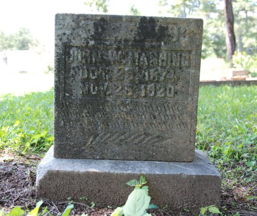 John Walsey Manning left behind a wife and three children when he died due to a boiler explosion at the Dunwoody Milling Company. Photo by Find a Grave volunteer Edward Smith.