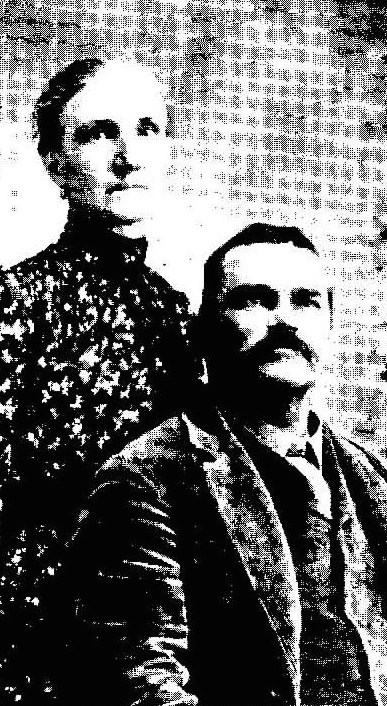 This is an undated portrait of Larkin Copeland and his wife, Lavada Ball Copeland. Photo from Ancestry.com.