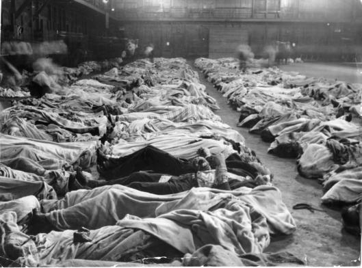 157 The Second Regiment Armory, on Washington Boulevard, served as a temporary morgue for victims of the S.S. Eastland steamship disaster on July 24, 1915. Some people were never identified. Photo from the Chicago Tribune Archives.