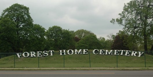 Forest Home Cemetery is so vast, you can see it from the Interstate.