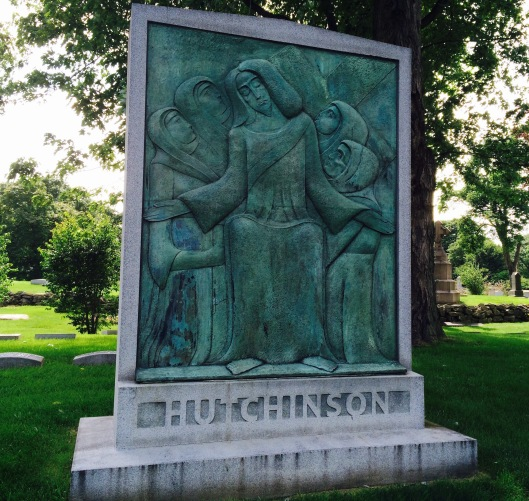 This monument to one Charles Hutchinson is often mistaken for that of another man by the same name buried at Graceland.