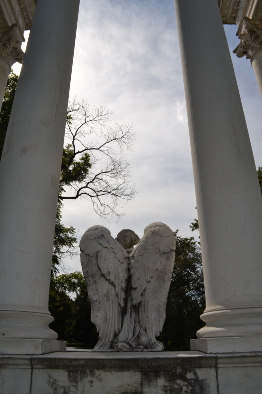 The back view of Kimball's now faceless angel. Her wings are beautiful. Photo by Chris Rylands.