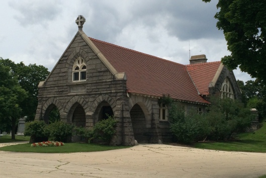 Built in 1899 by Joseph Silsbee, the May Chapel is a tribute to Anna May's love for her husband, Horatio May. He and Anna are buried beside the chapel.