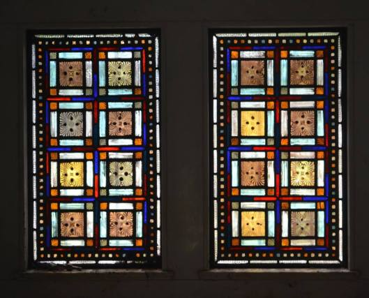 This less religious stained glass makes me think of Frank Lloyd Wright. Photo by Chris Rylands.