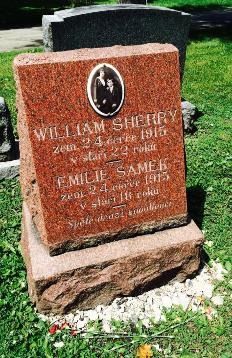 Emilie Samek and William Sherry never had the chance to begin married life together.