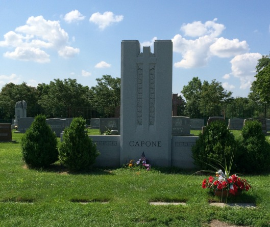 This is the Capone family plot. Al Capone is buried with his parents and five of his siblings.