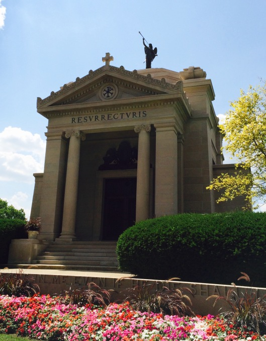 Here's a closer look at the mausoleum. It is closed to visitors.
