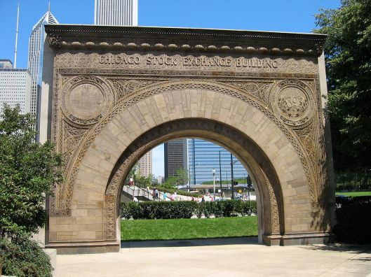 Although the Chicago Stock Exchange building that Sullivan helped design was demolished in 1972, the arch was saved and is now at the Art Institute of Chicago. Photo by Jeremy Atherton.