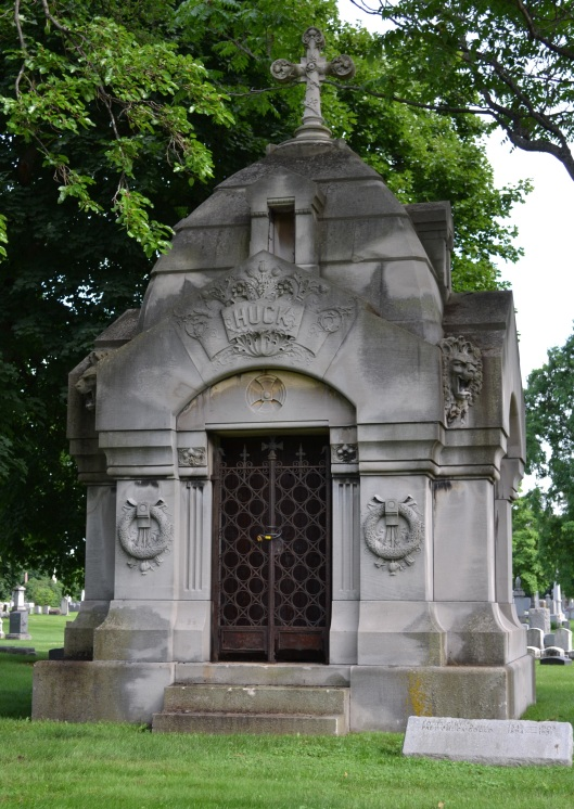 This Gothic-style mausoleum for the Huck family is hard to drive by without stopping. Photo by Chris Rylands.
