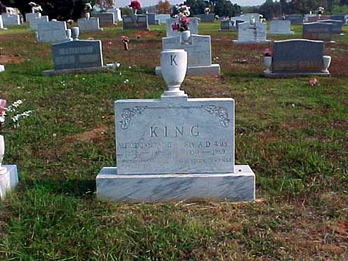 Dr. King Sr.'s younger son, the Rev. A.D. Williams King, Jr., died in 1969 after drowning in his swimming pool. He is also buried at South-View. Photo source: Warrick L. Barrett.