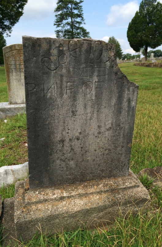 This broken grave marker is the only one known to exist for a black victim of the 1906 Atlanta Race Riot.