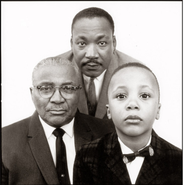 Three generations of Kings: Martin Luther Sr., Jr. and III.
