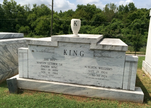 The tomb of Dr. Martin Luther King, Sr. and his wife, Alberta Williams, King, is located near the front gates of South-View.