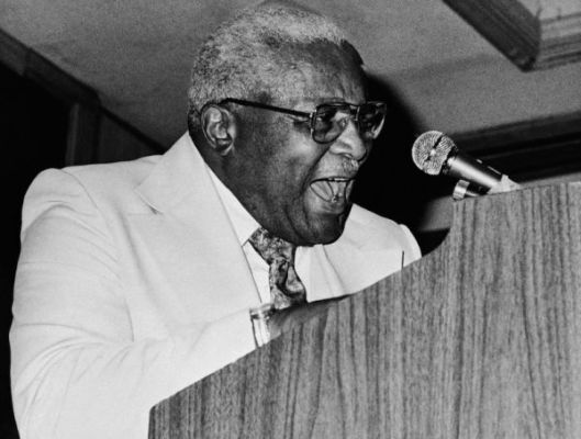 The Rev. Martin Luther King Sr. in Macon, Georgia at the State Sunday School and Baptist Congress on July 20, 1977. Photo source: Associated Press.
