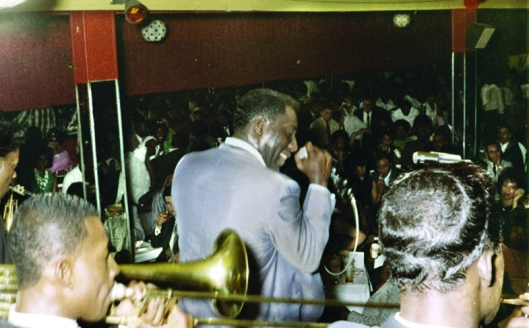 Otis Redding made an appearance at the Royal Peacock in the early 1960s. Photo source: Zelma Redding