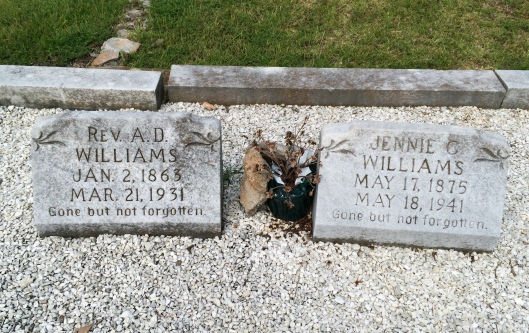 Rev. Williams is buried beside his wife,