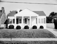 A friend of President Roosevelt and his wife, Jackson built a replica of the Little White House across from Washington High School where Jackson taught for many years. Photo source: Special Collections Dept., Pullen Library, Georgia State University.