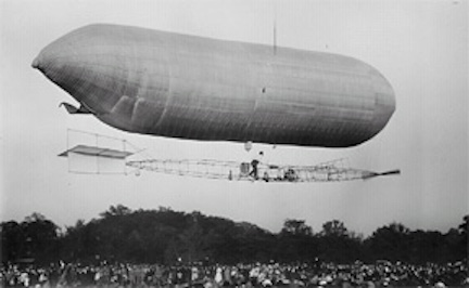 The Baldwin Airship SC-1 was the U.S. Army's first purchase of a genuine aircraft, even before the ground-breaking Wright Flyer. Photo source: Richard DesChenes.