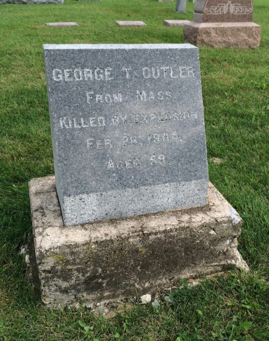 "The words ""killed by an explosion"" are ones I don't often see on a grave stone."