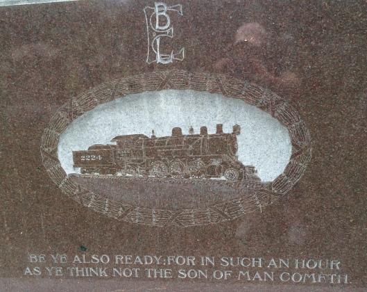 The logo of the Brotherhood of Locomotive Engineers is one I have seeen in several Georgia emeteries.