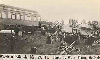 Members of the Western Leagues's Omaha and Denver baseball teams were killed in the 1911 Indianola train wreck.
