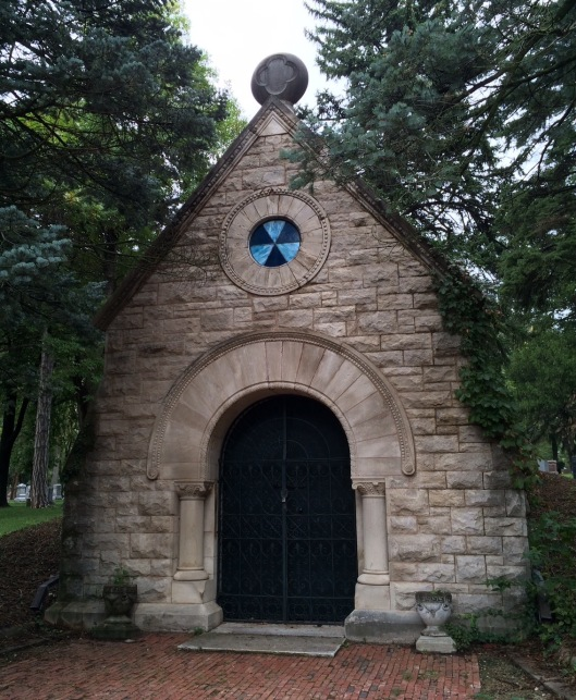 Wyuka's receiving tomb was designed by John H.W. Hawkins, a Cornell graduate who had recently arrived in Lincoln.